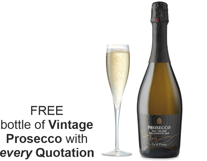 FREE Bottle of Vintage Prosecco with every Window and Door Quotation