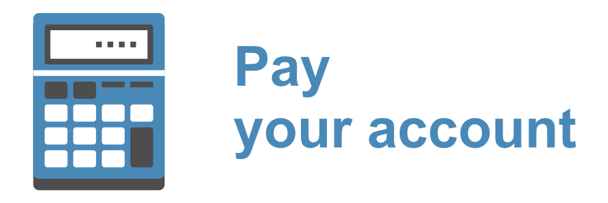 Pay your Account Online with a Debit Card or Credit Card