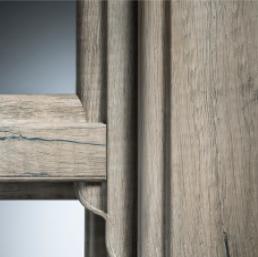 QuickSlide Vertical Sliding Box Sash Windows in PVCu Living Oak