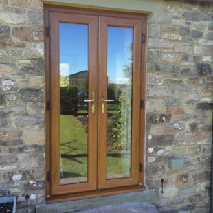 Duraflex PVCu French Doors Antique Golden Oak AFTER