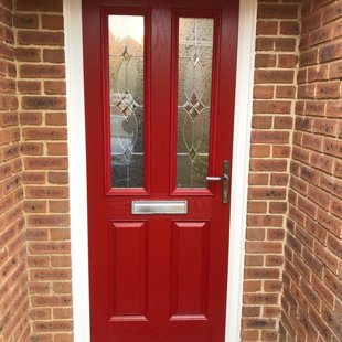 Mr & Mrs Hughes, Blackwood - Door-Stop Door in Red