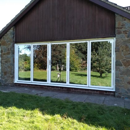 5 Section Aluminium BiFolding Sliding Doors for the Hazelby's of Brecon
