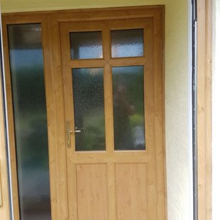 Irish Oak PVCu Door 6 Panel