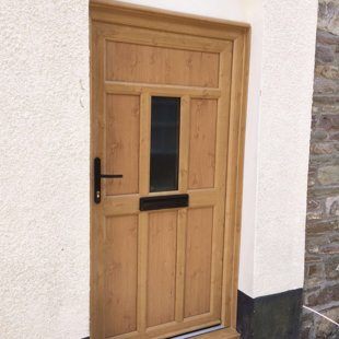 Irish Oak Traditional PVCu Door