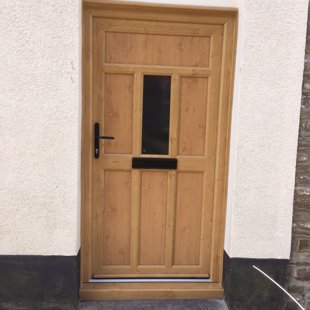 Irish Oak PVCu Door Cottage