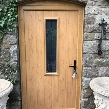 Mr and Mrs Pulling Chepstow Solidor Irish Oak Door