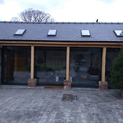 Widespan Aluminium Sliding Patio Doors installed for the Barringtons of Abergavenny