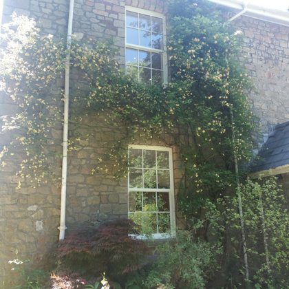 Textured White Iconic Vertical Sliding Sash Windows installed for the Hawes of Chesptow