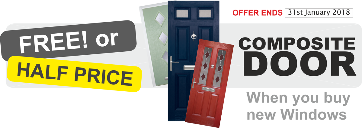 FREE or Half Price Composite Door Promotion when you buy new windows