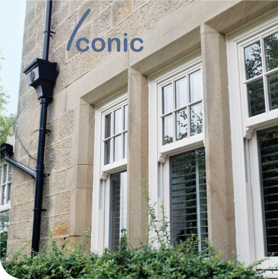 Iconic Vertical Sliding Sash PVCu Windows