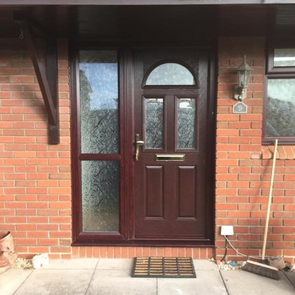 Rosewood Composite Door installed in Chepstow for the McIntosh Family