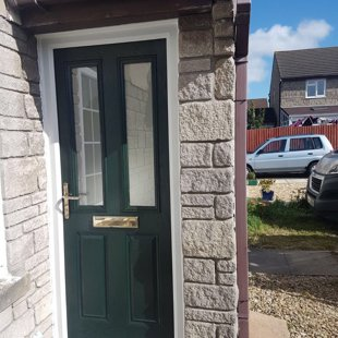 The Warrens, Llantwit Major - Door-Stop Door in Dark Green