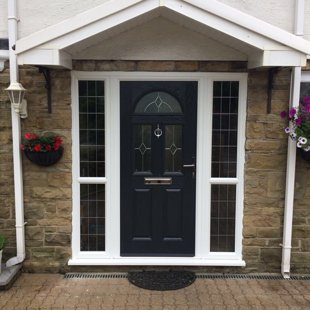 The Steels, Pentyrch Door-Stop Door in Anthracite Grey