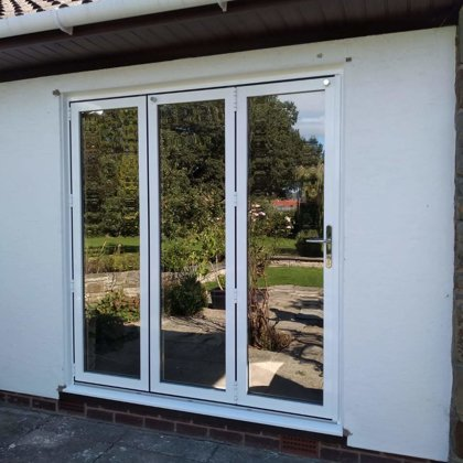 3 Section Gloss White Bifold for the Hazelby's of Brecon