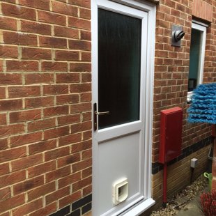 PVCu Door with Cat-Flap