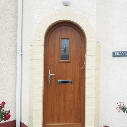 Arched Door for the Maxted's of Gilwern