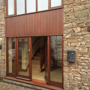 Double Height Barn Conversion Screen with Doors BEFORE