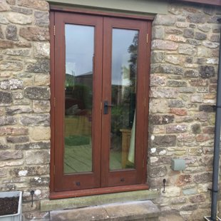 French Doors - Wood - Before