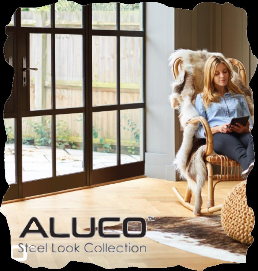 Aluco Steel Look Aluminium Windows and Doors Interior and Exterior