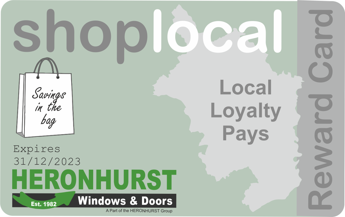 Apply for your Shop-Local Local Loyalty Reward Card online - it's FREE for the biggest savings on Windows and Doors in Wales - Guaranteed